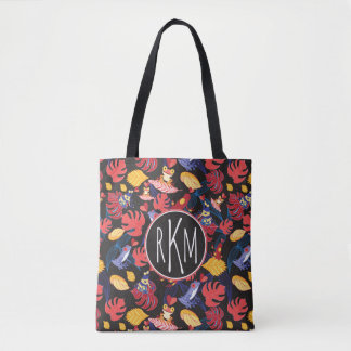 Pattern Of The Lovers Frogs | Monogram Tote Bag