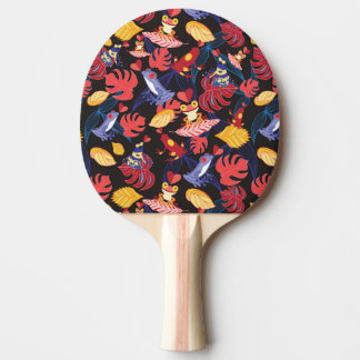 Pattern Of The Lovers Frogs Ping-Pong Paddle