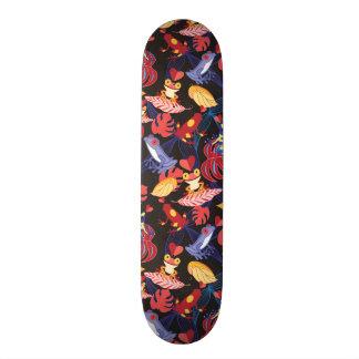 Pattern Of The Lovers Frogs Skate Board Deck