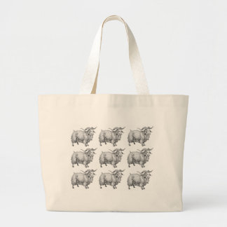 pattern of the old ram large tote bag