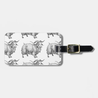 pattern of the old ram luggage tag