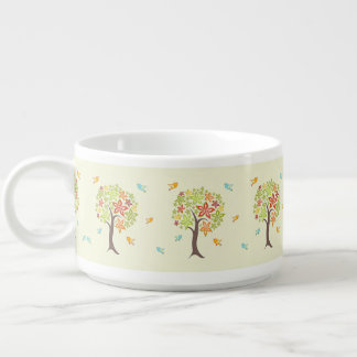 Pattern of trees and birds bowl