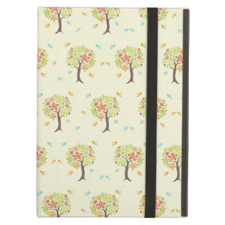 Pattern of trees and birds iPad air case