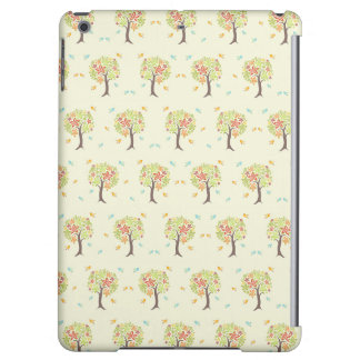 Pattern of trees and birds iPad air cover
