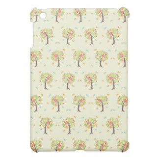 Pattern of trees and birds iPad mini cases