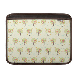 Pattern of trees and birds sleeve for MacBook air