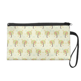 Pattern of trees and birds wristlet