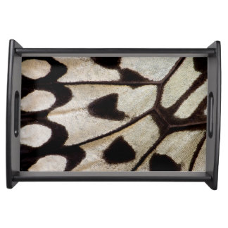 Pattern of Tropical Butterfly Serving Tray