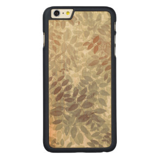 Pattern of Vetch Leaves | San Juan Islands, WA Carved Maple iPhone 6 Plus Case