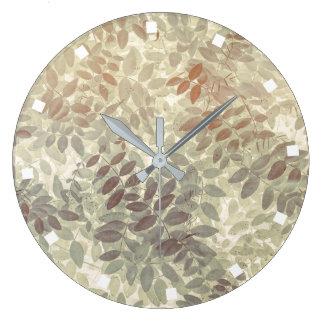 Pattern of Vetch Leaves | San Juan Islands, WA Large Clock