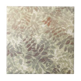 Pattern of Vetch Leaves | San Juan Islands, WA Tile