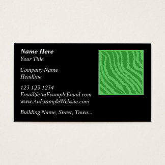 Pattern of Wavy Green Stripes. Business Card