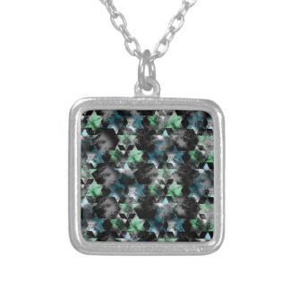 pattern P Silver Plated Necklace