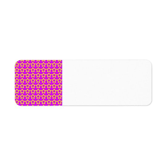 Pattern: Pink Background with Yellow Stars