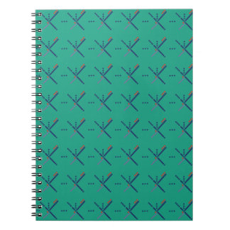 Pattern Portland Airport carpet Spiral Notebook
