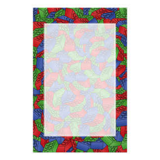 Pattern - Primary Colors Building Blocks Customized Stationery