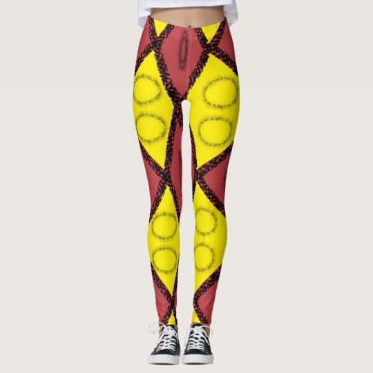 Pattern print leggings