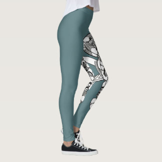 pattern print put-went leggings