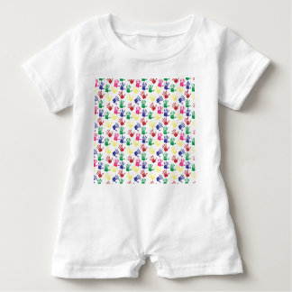 Pattern printed hands baby unisex suit baby romper