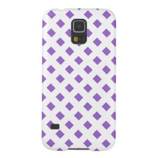 Pattern purple square block diamond galaxy s5 case