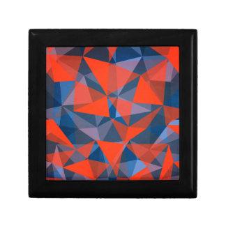 pattern red blue jewelry box