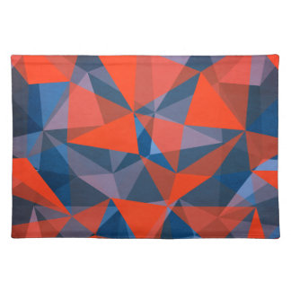 pattern red blue placemat
