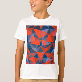 pattern red blue T-Shirt
