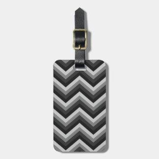 Pattern Retro Zig Zag Chevron Luggage Tag