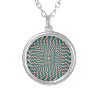 Pattern Silver Plated Necklace