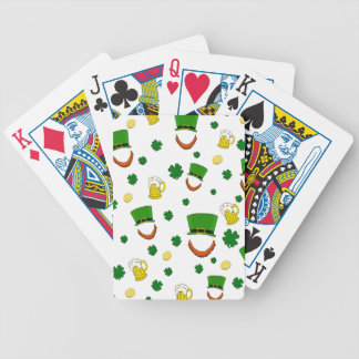 Pattern - St. Patrick's day Bicycle Playing Cards