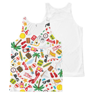 Pattern Summer holiday travel south sea All-Over-Print Tank Top