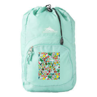 Pattern Summer holiday travel south sea Backpack