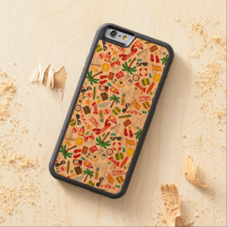 Pattern Summer holiday travel south sea Carved Cherry iPhone 6 Bumper Case