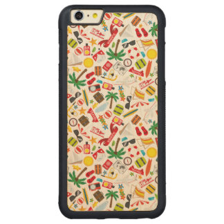 Pattern Summer holiday travel south sea Carved Maple iPhone 6 Plus Bumper Case