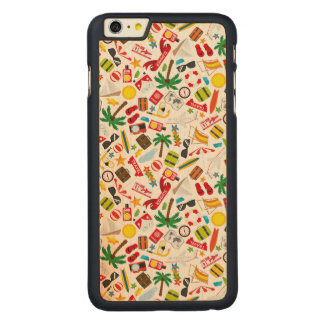 Pattern Summer holiday travel south sea Carved Maple iPhone 6 Plus Case