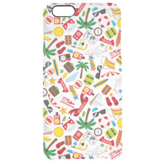Pattern Summer holiday travel south sea Clear iPhone 6 Plus Case