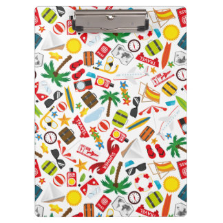 Pattern Summer holiday travel south sea Clipboard