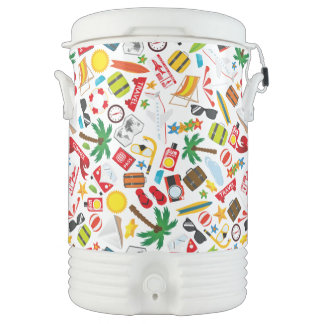 Pattern Summer holiday travel south sea Cooler