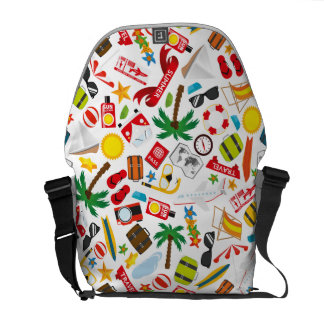 Pattern Summer holiday travel south sea Courier Bags