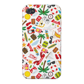 Pattern Summer holiday travel south sea Cover For iPhone 4