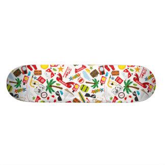 Pattern Summer holiday travel south sea Custom Skate Board
