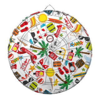 Pattern Summer holiday travel south sea Dartboard