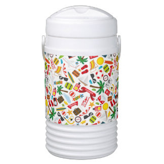 Pattern Summer holiday travel south sea Drinks Cooler