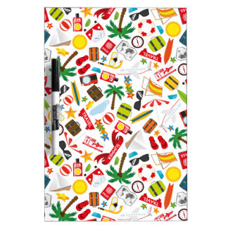 Pattern Summer holiday travel south sea Dry Erase Board