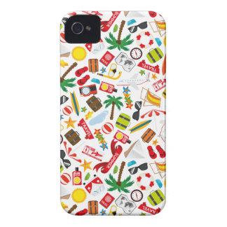 Pattern Summer holiday travel south sea iPhone 4 Case-Mate Case