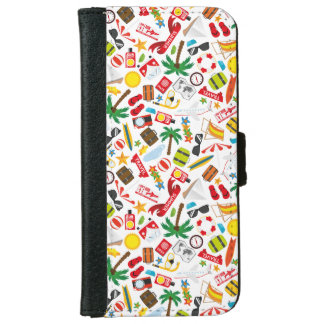 Pattern Summer holiday travel south sea iPhone 6 Wallet Case