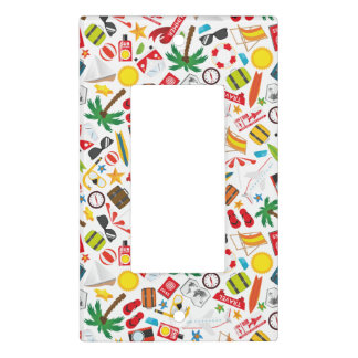 Pattern Summer holiday travel south sea Light Switch Cover