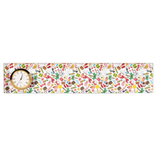 Pattern Summer holiday travel south sea Name Plate