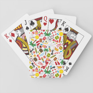 Pattern Summer holiday travel south sea Playing Cards