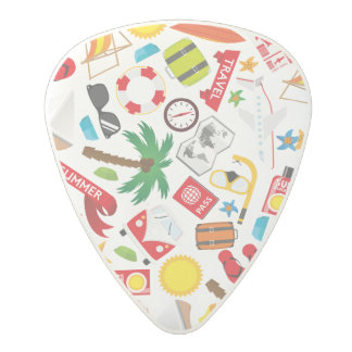 Pattern Summer holiday travel south sea Polycarbonate Guitar Pick